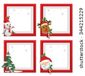 set of christmas frames vector... | Shutterstock .eps vector #344215229