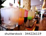 fruit juice in water cooler... | Shutterstock . vector #344226119