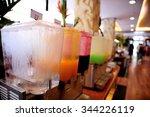 fruit juice in water cooler... | Shutterstock . vector #344226119