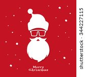 Christmas Greeting Card. Santa...