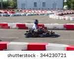indoor karting race  | Shutterstock . vector #344230721