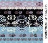 ethno seamless pattern. ethnic... | Shutterstock . vector #344232344