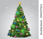 christmas tree | Shutterstock .eps vector #344237621