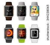 smart watch application... | Shutterstock .eps vector #344238065