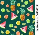 a seamless pattern with the... | Shutterstock . vector #344241941
