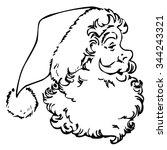 christmas santa claus... | Shutterstock .eps vector #344243321