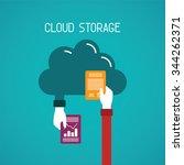 cloud storage bitmap concept in ... | Shutterstock . vector #344262371