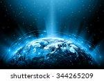 best internet concept. globe ... | Shutterstock . vector #344265209