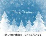 merry christmas text background | Shutterstock . vector #344271491