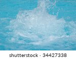 bubbling water in a swimming... | Shutterstock . vector #34427338