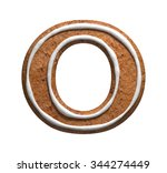 Letter O. Gingerbread Font....