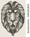 lion head | Shutterstock .eps vector #344281841