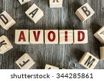 Small photo of Wooden Blocks with the text: Avoid