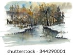 The River In The Woods  Winter...