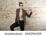 attractive fashion model in old