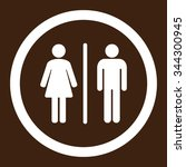 wc vector icon. style is flat... | Shutterstock .eps vector #344300945