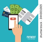 payment concept with money... | Shutterstock .eps vector #344301005