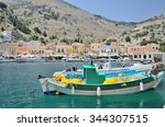 symi  simi  island   dodecanese ... | Shutterstock . vector #344307515