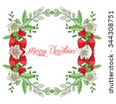 background with christmas... | Shutterstock .eps vector #344308751