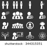 connected people social network ... | Shutterstock .eps vector #344315351
