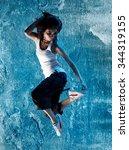young asian female r b dancer   Shutterstock . vector #344319155