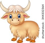 Cute Yak Animal Isolated On...