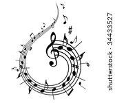 music theme | Shutterstock .eps vector #34433527
