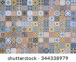 ceramic tiles patterns from... | Shutterstock . vector #344338979