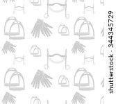 pattern horse harness | Shutterstock .eps vector #344345729