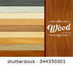 vector tile wood floor striped... | Shutterstock .eps vector #344350301