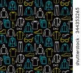 vector seamless pattern of men... | Shutterstock .eps vector #344353265