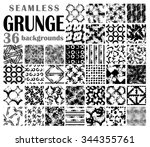 grunge seamless backgrounds ... | Shutterstock .eps vector #344355761