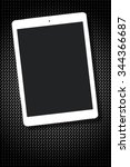 tablet pc with blank black... | Shutterstock . vector #344366687