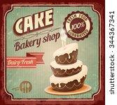cake happy birthday   Shutterstock .eps vector #344367341