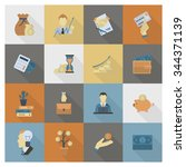 business and finance  flat icon ... | Shutterstock . vector #344371139