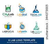 lab logo template design vector | Shutterstock .eps vector #344373005