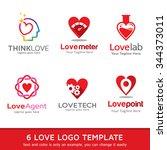 love logo template design vector | Shutterstock .eps vector #344373011