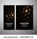 abstract gold shining. brochure ... | Shutterstock .eps vector #344380715