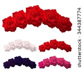 vector rose flower crown.... | Shutterstock .eps vector #344387774