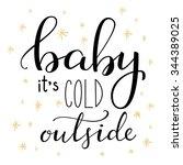 winter romantic lettering.... | Shutterstock .eps vector #344389025