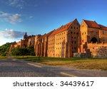 Polish castle - stock photo