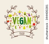 vegetarian food design  vector... | Shutterstock .eps vector #344400281