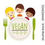 vegetarian food design  vector... | Shutterstock .eps vector #344403431