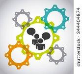 collaborative people design ... | Shutterstock .eps vector #344404874