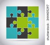 puzzle assembling design ... | Shutterstock .eps vector #344405297