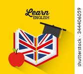learn english design  vector... | Shutterstock .eps vector #344406059