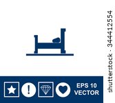 vector bed icon. | Shutterstock .eps vector #344412554