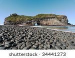 a coastal rock formation in the ...