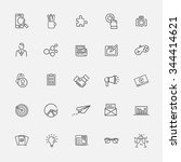 marketing icons | Shutterstock .eps vector #344414621