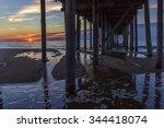 ocean city  maryland under the... | Shutterstock . vector #344418074